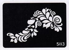 GT583 Body Art Glitter Tattoo Stencil Henna Flowers Leaf
