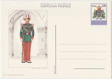 SAN MARINO CARTOLINA POSTALE 120 LIRE 20/12/1979 MILITE GUARDIA ROC. - NUOVA C46