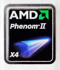AMD Phenom II X4 Sticker 18 x 21.5mm Case Badge Logo Label USA Seller
