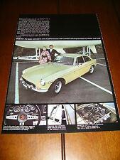 1972 MGB GT ***ORIGINAL VINTAGE COLOR AD*** RARE!!!