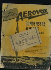 1941 Aerovox Radio & Electric Products Catalog Manual