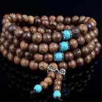 New Sandalwood Buddhist Buddha Meditation Prayer Bead Mala Bracelet Necklace 6mm
