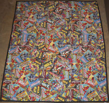 VINTAGE COMIC BOOK MARVEL CURTAIN 40 INCHES TALL IRON MAN WOLVERINE SPIDER-MAN