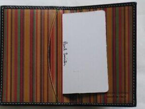 BNIB Paul Smith Leather Credit Card Wallet Signature Print Stripe
