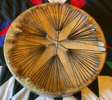 NATIVE AMERICAN HAND DRUM BUFFALO HIDE FRAME DRUM 20 INCHES ..///: WITH BEATER''