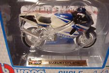 Suzuki GSX R 750 Blue White 1:18 Burago