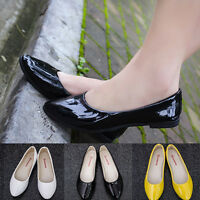 Women Office Ladies Flats Mules Pointed Leather Slip Oxford Casual Loafers Shoes