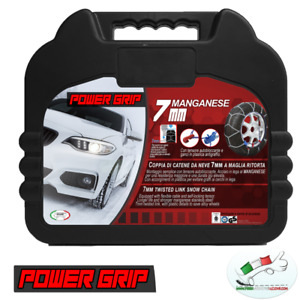 Catene Neve Power Grip 7mm Omologate gruppo 140 gomme 225/55r18 Jeep Compass 1