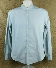 2a261d57 Men's Zara Geometric Slim Fit Long Sleeve Grandad Collar Shirt Medium/M #F1
