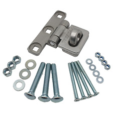 Vertical Hasp Staple Heavy Duty Stainless or Black Van Shed Garage Federal FD701