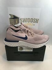Nike Epic React Flyknit Diffused Taupe Blue Void Tan Beige AQ0067 201 Size 13