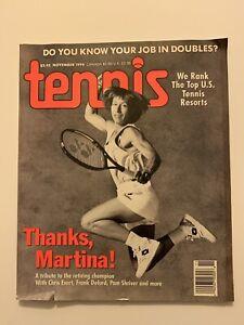 Tennis Magazine November 1994 Martina Navratilova Tribute to Retiring Champion