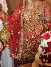 Design quarter Elegant Wedding Lengha Asian Pakistani Indian BrideBridal