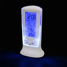 Novelty LED Display Backlight Table Alarm Clock Snooze Thermometer Calendar H7