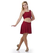 Goddess Child Large Lyrical Ballet Dance Costume Dress New Red Captivating