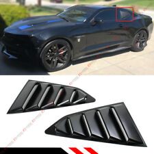 For 2016-18 Chevy Camaro Matt Black Side Window 1/4 Quarter Louver Cover Vents