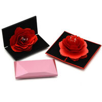 Folding Rose Ring Box Birthday Jewelry Display Boxes Gift with Wedding Vale S rs