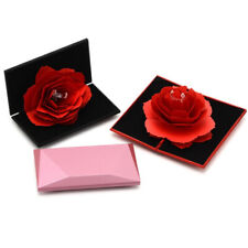Folding Rose Ring Box Birthday Jewelry Display Boxes Gift with Wedding Valen Pq