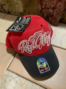 NHL '47 Brand Detroit Black Red Green Wings Adjustable Cotton Hat One Size