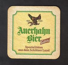 Alter BD , Bierdeckel , Auerhahn Bier , Schlitz , Lauterbach/ Hessen