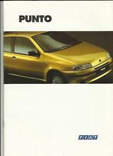 FIAT PUNTO FULL RANGE SALES BROCHURE JULY 1994