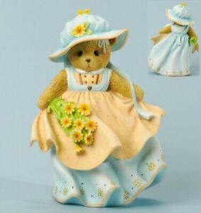 CHERISHED TEDDIES TALL FIGURINE, CHRISTINA, FLOWERS, SPRING, BONNET, 4035945 NIB