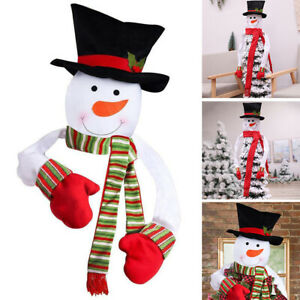 2021 Christmas Tree Cover Snowman Topper Xams Decoration Top Hat Kids Gifts New