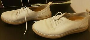 Clarks Active Air White Comfort Lace Up Shoes Moccasins Sneakers UK 4.5 Leather