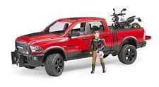 BRUDER 2502 RAM 2500 Power Wagon With Scrambler Ducati Desert Sled Scaled Model