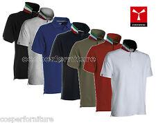 Polo 100% cotone manica corta anche 4xl e 5xl Payper Nation Italia tricolore