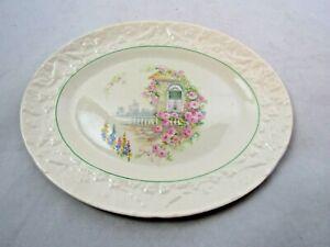 """Vintage Floral  Serving Plate 11 1/2"""""""