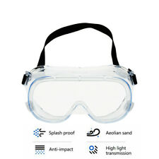 Anti Virus Fully Sealed Safety Goggles Glasses Eye Protection Work Lab Anti Dust
