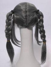 Perruques, extensions et matériel cheveux synthétiques gris pour femme