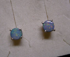 DAILY DEALS~~Fiery Boulder Opal Stud Earrings  2 gemstones  .65tcw MSRP$399