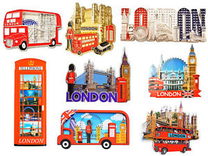 Best Mix of 8 UK London Icons Design Metal & Resin Fridge Magnets -8 Pieces