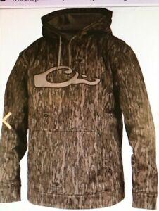 Drake Waterfowl Performance Logo Mossy Oak Bottomland Hoodie, medium