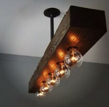 lampadario industriale chandelier industrial wood design