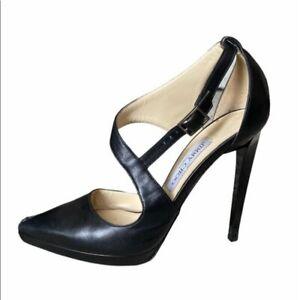 Jimmy Choo Black Mirror Stiletto Heel Pumps size EUR 38 US 7