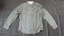 BRAND NEW Harley Davidson Mens Long Sleeve Button-Down (snap) Shirt, Grey
