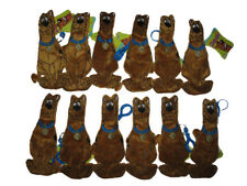 """** R@RE ** Lots of 12 ** Scooby-Doo 8"""" Plush Key-Chain Clip-On Zipper BRAND NEW"""