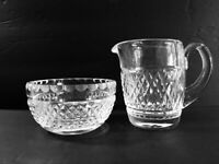Waterford Crystal Creamer and Sugar Set Vintage Diamond Pattern MINT