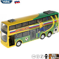 Diecast Double-Deck Coach Scale 1:50 VDL Bova Synergy Russian Model Bus Cars