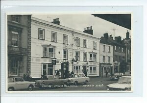 Real photo postcard of Knights Bull hotel Bridport Dorset good condition