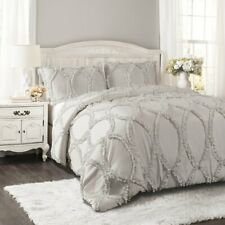 Avon Comforter Light Gray 3Pc Set Full/Queen