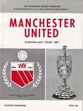 Northern NSW Manchester United 1967 Football Programme Australian Tour