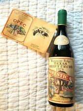 Bottle of Beaumont Ridge Texas heavy crude 1978