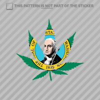 Washington Flag Weed Marijuana Leaf Sticker Self Adhesive Vinyl 420 hemp