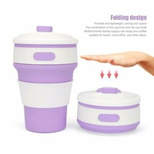 350ml Collapsible Silicone Coffee Tea Cup Outdoor Travel Foldable Mug Space Save