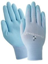 Ladies Large Gardening Gloves A202 L Flowertouch Foam Latex Nitrile Glove Blue