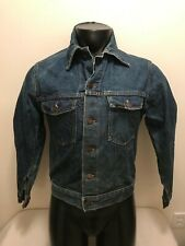 Vintage Sears Roebucks 12 GA Denim Jean Jacket Mens size 38-R